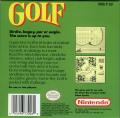 Golf Game Boy Back Cover