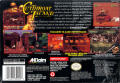 Cutthroat Island SNES Back Cover