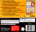 Cooking Mama Nintendo DS Back Cover