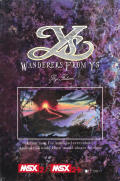 Ys III: Wanderers from Ys MSX Front Cover