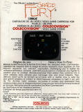 Space Fury ColecoVision Back Cover