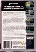 Where in Time is Carmen Sandiego? NES Back Cover