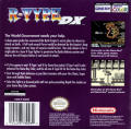 R-Type DX Game Boy Color Back Cover