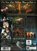 Prince of Persia: Warrior Within PlayStation 2 Back Cover