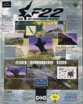 F22 Air Dominance Fighter Windows Back Cover