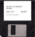 The Secret of Monkey Island DOS Media