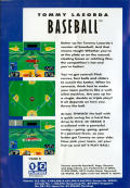 Tommy Lasorda Baseball Genesis Back Cover