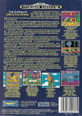 The Simpsons: Bart's Nightmare Genesis Back Cover