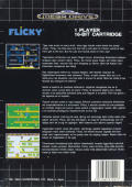 Flicky Genesis Back Cover
