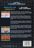 Wonder Boy III: Monster Lair Genesis Back Cover Back cover is damaged; please submit a replacement if you have this cover.