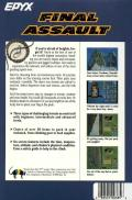 Final Assault Atari ST Back Cover