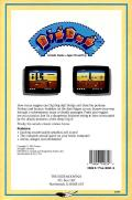 Dig Dug Commodore 64 Back Cover