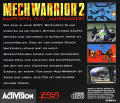 MechWarrior 2: Limited Edition DOS Other MechWarrior 2 - Jewel Case - Back