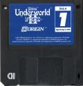 Ultima Underworld II: Labyrinth of Worlds DOS Media Disc 1/5 (same as Disc 2 through 4)