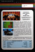 The Adventures of Buckaroo Banzai: Across the Eighth Dimension Atari 8-bit Back Cover