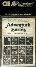 Adventure Series Commodore 64 Front Cover