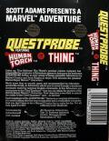 Questprobe: Featuring Human Torch and the Thing Commodore 64 Back Cover