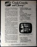 Crush, Crumble and Chomp! Commodore 64 Back Cover