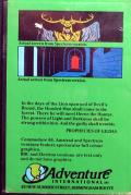 Robin of Sherwood: The Touchstones of Rhiannon ZX Spectrum Back Cover