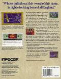 Arthur: The Quest for Excalibur Amiga Back Cover