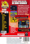 Namco Museum 50th Anniversary PlayStation 2 Back Cover
