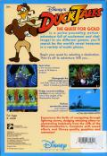 Disney's Duck Tales: The Quest for Gold DOS Back Cover