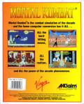 Mortal Kombat DOS Back Cover