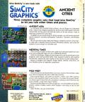 SimCity Graphics Set 1: Ancient Cities DOS Back Cover