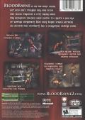 BloodRayne 2 Xbox Back Cover