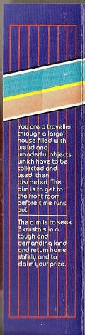 Double Play Adventure: Time Quest / Crystal Quest ZX Spectrum Back Cover