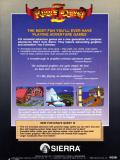 King's Quest III: To Heir is Human DOS Back Cover