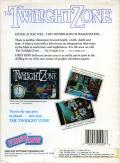 The Twilight Zone DOS Back Cover