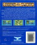 Legend of the Sword DOS Back Cover