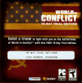 World in Conflict Windows Other Front Sleeve - Trial DVD