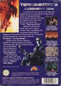 Terminator 2: Judgment Day NES Back Cover