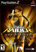 Lara Croft Tomb Raider: Anniversary PlayStation 2 Front Cover