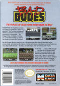 Bad Dudes NES Back Cover