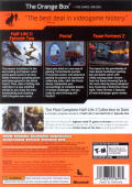 The Orange Box Xbox 360 Back Cover