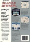 Blades of Steel Commodore 64 Back Cover