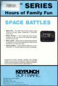 Space Battles DOS Back Cover