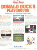 Donald Duck's Playground TRS-80 CoCo Back Cover