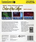 Order of the Griffon TurboGrafx-16 Back Cover