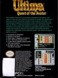 Ultima IV: Quest of the Avatar NES Back Cover