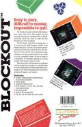 Blockout Commodore 64 Back Cover