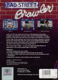 Bad Street Brawler DOS Back Cover