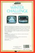 Winter Challenge: World Class Competition Atari 8-bit Back Cover