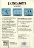 Balance of Power: The 1990 Edition Apple IIgs Back Cover