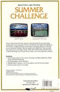 Summer Challenge Atari ST Back Cover