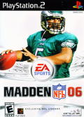 Madden NFL 06 PlayStation 2 Front Cover