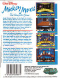 Mickey Mouse: The Computer Game Commodore 64 Back Cover